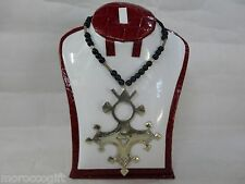Handcrafted African Tuareg Berber Cross Necklace Niger Ethnic Tribal Jewelry