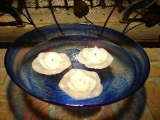 48 White Rose Floating Flower Candles Free Shipping