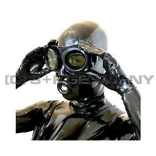 FETISH RUBBER GOGGLES GAS MASK STYLE GLASSES FOR LATEX MASK HOOD CATSUIT CORSET