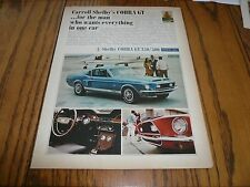 FORD MUSTANG SHELBY COBRA GT 350/500 Fastback AD SALES Advertisement