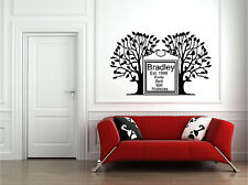 Personalized Family Name & Tree Wall Sticker Sign Wall Art Decor Vinyl Decal