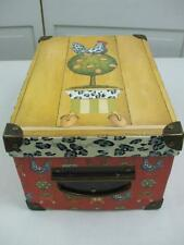 Topiary Rooster Chicken Eggs Storage Chest Keepsake Box Tri Costal Design 11.5""