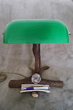 DEER ANTLER LAMP, PERFECT FOR DESK, HANDMADE VERY UNIQUE GIFT, BEAUTIFUL