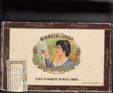 Vintage LA Flora De GARCIA & VEGA TAMPA, FL SENATORS CIGAR BOX (EMPTY)