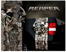 Grim reaper bow hunting oak camouflage truck bed band decal graphic