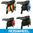 ROSWHEEL MTB Cycling Bike Bicycle Tail Rear Saddle Seat Bag Storage Pouch Hi Viz