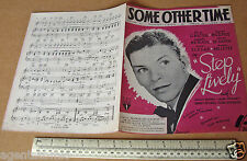 "1944 Home Front WWII Sheet Music ""Some Other Time"" Recorded by Frank Sinatra"
