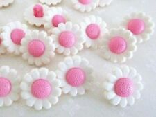 20 Kids Collection Flower Plastic Sewing Button/Trim/Shank/Dress Sb84-Pink Daisy