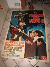 manifesto 1963, IL FIGLIO DEL CIRCO,CIRCUS,S.GRIECO,A.LUALDI,UBALDO LAY RAMUNCHO