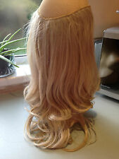 UK Real Thick Clip Hair Extensions Long Half Full Head As Human Hair dk blonde