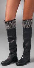 HOLLYWOOD TRADING COMPANY STUD OVER THE KNEE BOOTS, EUC, BLACK, EU 39, US 9