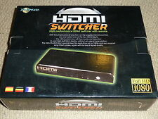 4 PORT HDMI SWITCH - BRAND NEW! Four Source Switcher + Remote 1080p PS3 Xbox 360