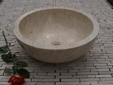 Stone Marble Sink Wash basin  Cream 40 cm ( wa002 ) Bathroom vanity