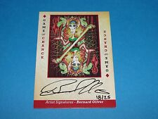 2015 Goodwin Champions GAME of CHANCE 6 Diamonds Bernard Oliver Autograph SP/25