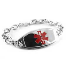 MyIDDr - Pre Engraved - PENICILLIN ALLERGY Medical Bracelet, Free ID Card