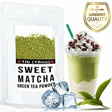 Sweet Matcha 4oz High Quality Green Tea Powder Mix- Made with 100% Organic - for