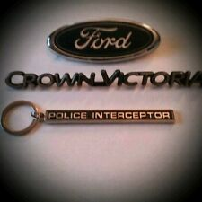 "Ford Crown Victoria ""Police Interceptor"" emblem keychain"