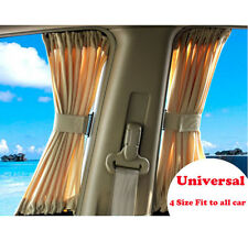 Universal 2 Piece Beige Car Window  Curtain Sunshade UV Protection 70x39cm