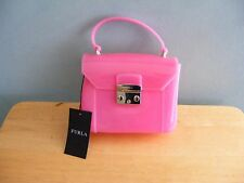 Furla Pink PVC Handbag  Shoulder Bag Purse Made in Italy