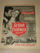 *22=THE BLACK SHIELD OF FALWORTH FILM TONY CURTIS JANET LEIGH=ADVERTISING=