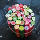 Lot of 30 Nail Art Cane Clay Fruit Slice DIY Mixed Fimo Polymer FS 10X50mm