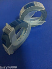 5 rolls x Dymo 3D embossing tape labels 9mm x 3m in BLUE *Great Sales FreeShip