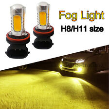 2x Super Bright Yellow Orange Gold H8/H11 LED For Driving/Fog Lights Bulb 7.5W