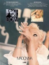 SH94-20/12P MADONNA : BEDTIME STORIES ALBUM & TAKE A BOW SINGLE ADVERT 11X8""