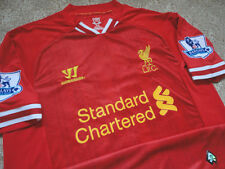 Authentic Warrior EPL Liverpool FC LFC Football Soccer Krit Jersey Shirt M Game