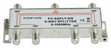 CATV Splitter Cable TV CATV NTL Virgin Media 10 dB / 5-1000 MHz 1 in 6 Outputs