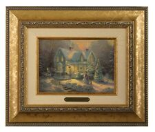 Thomas Kinkade Blessings of Christmas - Brushwork (Gold Frame)