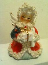 VINTAGE NAPCO CHRISTMAS SPAGHETTI  ANGEL PLANTER FIGURINE  JAPAN
