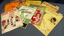 American Softcover Sheet Music Lot of 8 ~ 1920s ~ Berlin, Helen Kane, Roth