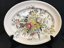 """Gorgeous Johnson Bros Windsor Ware Garden Bouquet 12""""x 9.1/4"""" Platter Pristine"""