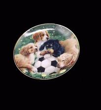 Soccer Scamps Collector Plate Dogs Franklin Mint Limited Edition F1882 ASPCA