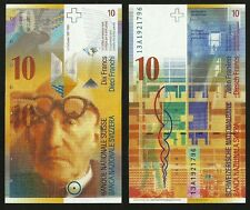 Switzerland 2013  UNC 10 Swiss Francs Banknote Paper Money Bill P-67e(2)