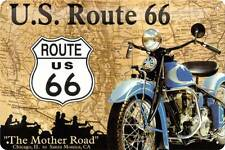 PLAQUE DECORATIVE ROUTE 66- BOMBEE -30 X 20 CM -NEUVE-DECO USA /BIKER