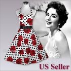 Polka Dot 50s Evening Party Wedding Prom Rockabilly Swing Vintage Retro Dress