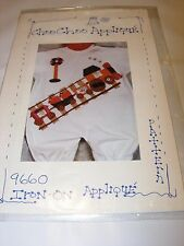 TRAIN IRON ON APPLIQUE PATTERN PROJECT CRAFT DESIGN FABRIC SEWING WEARABLE ART