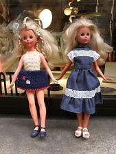 2 BAMBOLE ITALOCREMONA IC 1965 736 CORINNE bambola vintage alta moda
