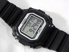 Casio black digital watch F-108WHC alarm chronograph stopwatch