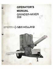 Sperry New Holland Operator's Manual Grinder-Mixer 359
