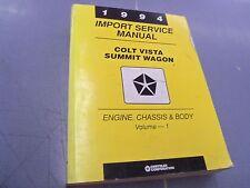 1994 Dodge Colt Vista Eagle Summit Wagon Service Shop Repair Book Manual