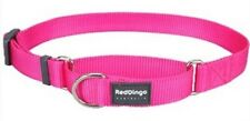 Premium Red Dingo Training Semi-Choke Dog Collar-Martingale-Pick Size/SolidColor