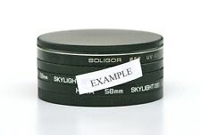 58mm METAL STACK CAP SET FOR 58mm FILTERS. BRAND NEW.