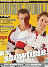 RUGBY WORLD MAGAZINE FEBRUARY 1997 SCOTLAND IRELAND FRANCE ENGLAND WALES