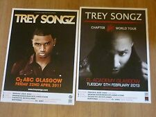 Trey Songz - Scottish tour Glasgow concert gig posters x 2