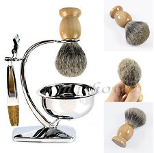 Barber Shaving Brush Best BADGER Hair  Wood Handle Tool Best Men Gift Brand New
