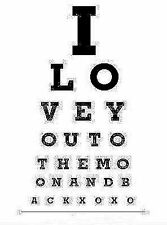 "Framed Print - Dot Work Style ""I LOVE YOU TO THE MOON AND BACK"" Eye Chart (Art)"
