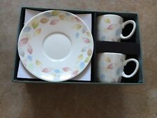 Expresso Nespresso Cups and Saucers New In Gift Box